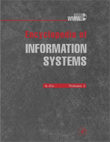 9780122272400: Encyclopedia of Information Systems: 4 Volume Set