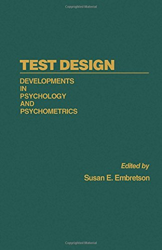 9780122381805: Test Design: Developments in Psychology and Psychometrics