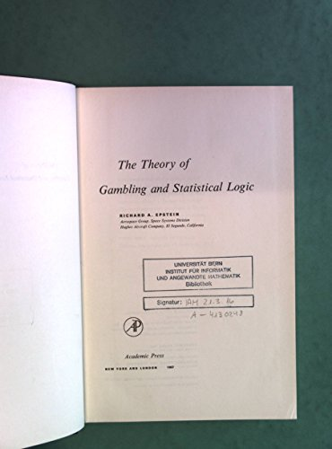 9780122407505: Theory of Gambling and Statistical Logic