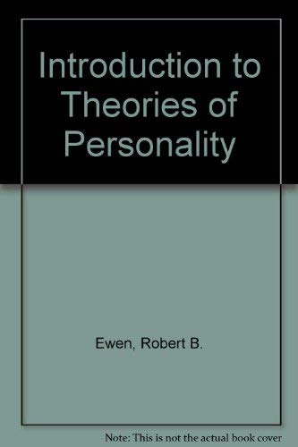 9780122451560: Introduction to Theories of Personality