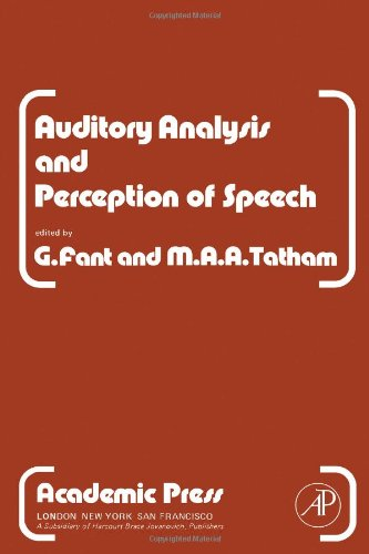 9780122485503: Auditory Analysis and Perception of Speech