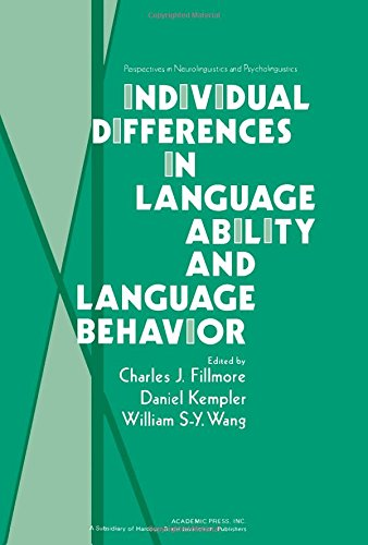 9780122559501: Individual Differences in Language Ability and Language Behavior (Pespectives in Neurolinguistics and Psycholinguistics)