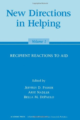 9780122573019: New Directions in Helping: Recipient Reactions to Aid