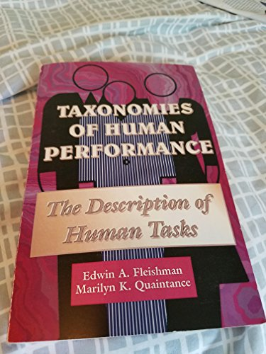9780122604508: Taxonomies of Human Performance: The Description of Human Tasks
