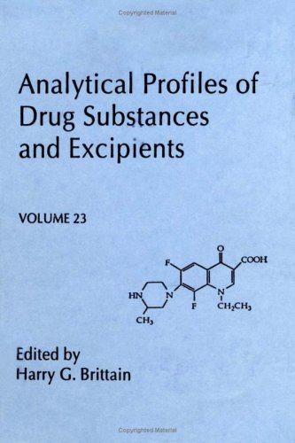 9780122608230: Analytical Profiles of Drug Substances and Excipients, Volume 23 (Analytical Profiles of Drug Substances, Excipients, and Related Methodology)