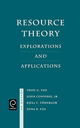 9780122613104: Resource Theory: Explorations and Applications
