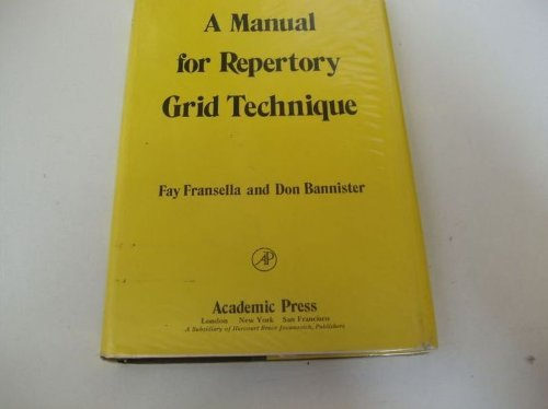Manual for Repertory Grid Technique: Fransella, Fay, Bannister,
