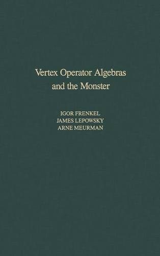 9780122670657: Vertex Operator Algebras and the Monster