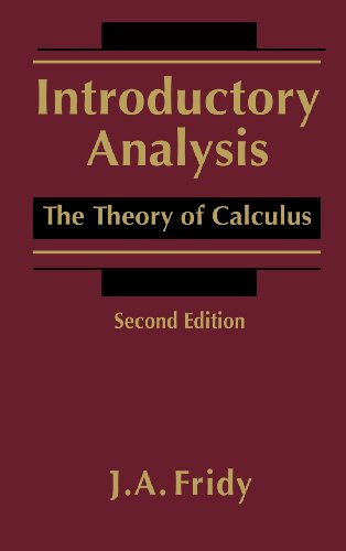 9780122676550: Introductory Analysis: The Theory of Calculus