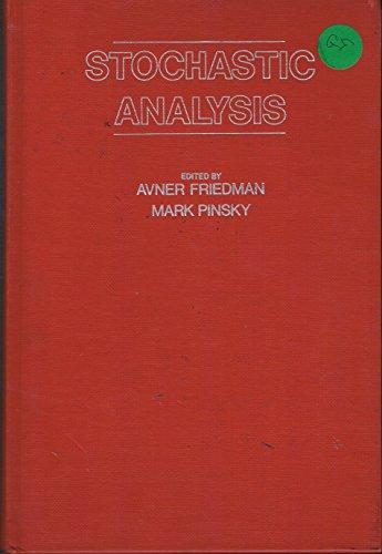 9780122683800: Stochastic Analysis