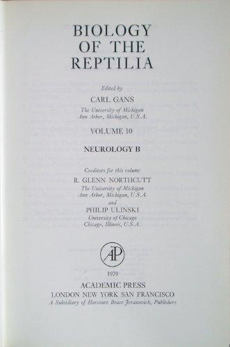 9780122746109: Biology of the Reptilia, Vol. 10: Neurology B