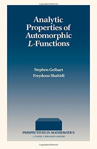9780122791758: Analytic Properties of Automorphic L-Functions (Perspectives in Mathematics)