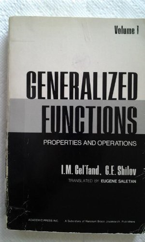 9780122795015: Generalized Functions: v. 1