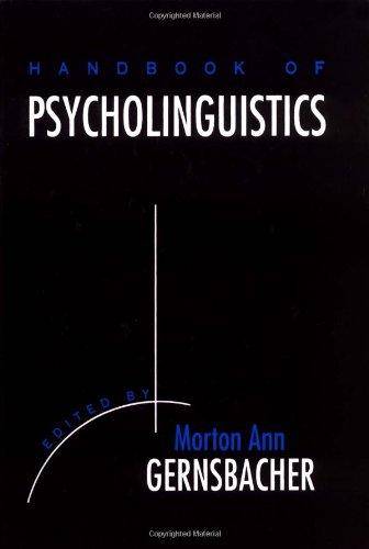 9780122808906: Handbook of Psycholinguistics