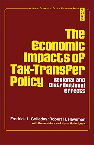 9780122888502: Economic Impacts of Tax-Transfer Policy: Regional and Distributional Effects (Monograph series / University of Wisconsin. Institute for Research on Poverty)