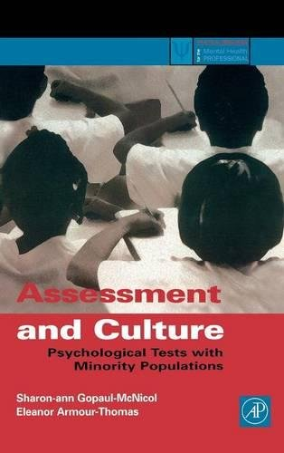 9780122904516: Assessment and Culture: Psychological Tests with Minority Populations (Practical Resources for the Mental Health Professional)