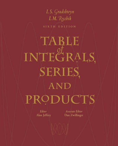 9780122947575: Table of Integrals, Series, and Products