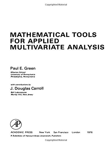 9780122975509: Mathematical Tools for Applied Multivariate Analysis