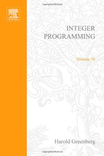 9780122994500: Integer Programming (Mathematics in Science and Engineering, Vol. 76)