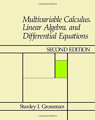 9780123043801: Multivariable calculus, linear algebra, and differential equations