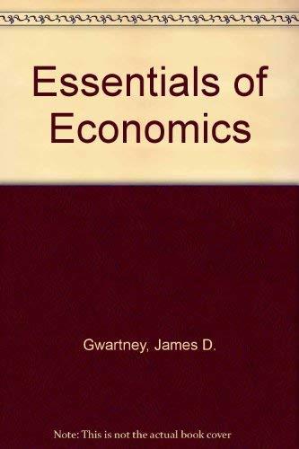 9780123110305: Essentials of economics