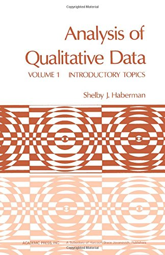 9780123125019: Analysis of Qualitative Data, Vol. 1: Introductory Topics