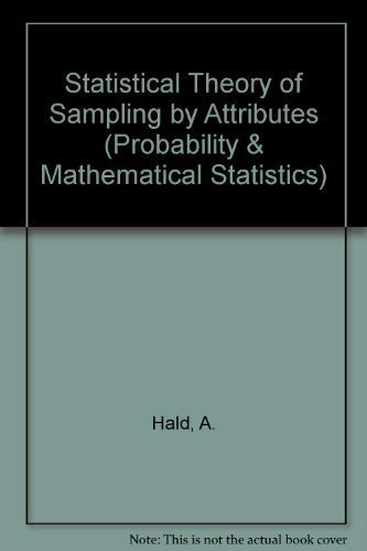 9780123183507: Statistical Theory of Sampling Inspection by Attributes (Probability and Mathematical Statistics)