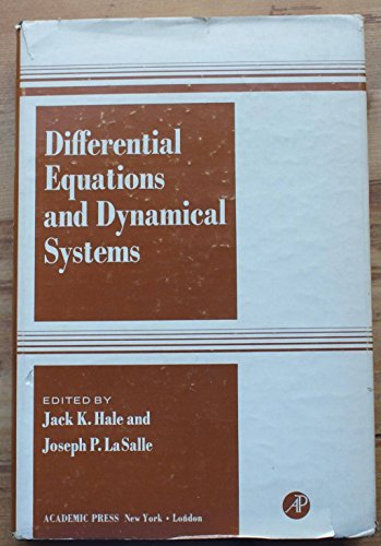 9780123184504: Differential Equations and Dynamical Systems