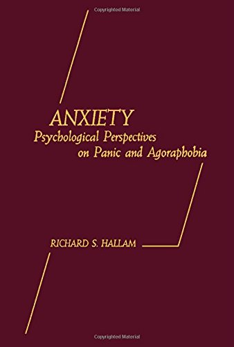 9780123196200: Anxiety: Psychological Perspectives on Panic and Agoraphobia