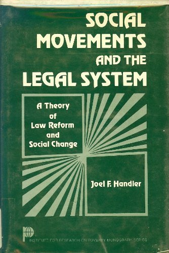 9780123228406: Social Movements and the Legal System: Theory of Law Reform and Social Change (Institute for Research on Poverty monograph series)
