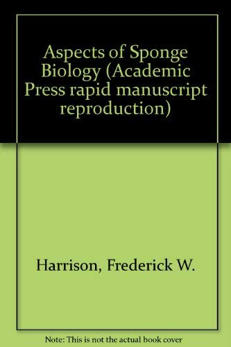 9780123279507: Aspects of Sponge Biology (Academic Press rapid manuscript reproduction)