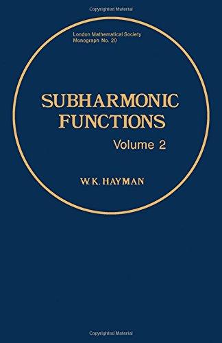 9780123348029: Subharmonic Functions: v. 2 (London Mathematical Society Monographs)