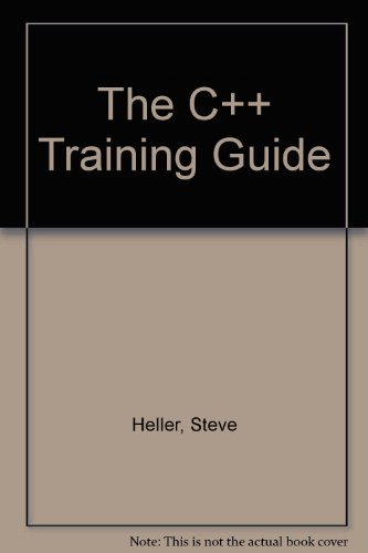 9780123391032: C++ Training Guide ***Replacement*** CD-ROM