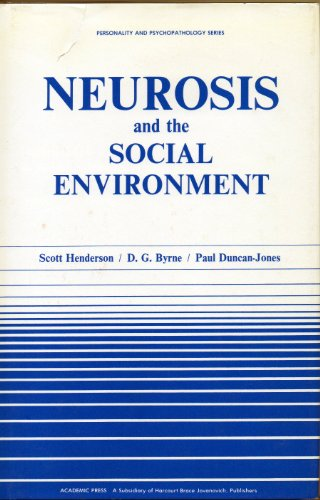 9780123405807: Neurosis and the Social Environment (Personality, Psychopathology, and Psychotherapy (Academic Pr))