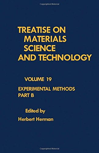 9780123418425: Treatise on Materials Science and Technology: Experimental Methods, Part B
