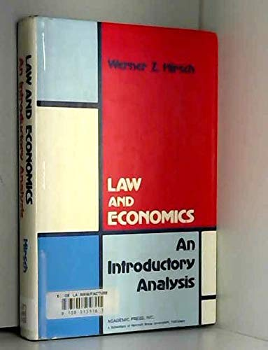 9780123494801: Law and Economics: An Introductory Analysis