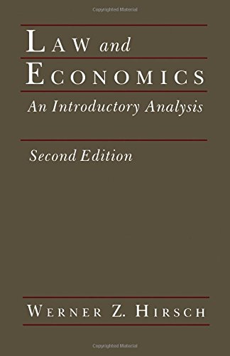 9780123494818: Law and Economics, Second Edition: An Introductory Analysis