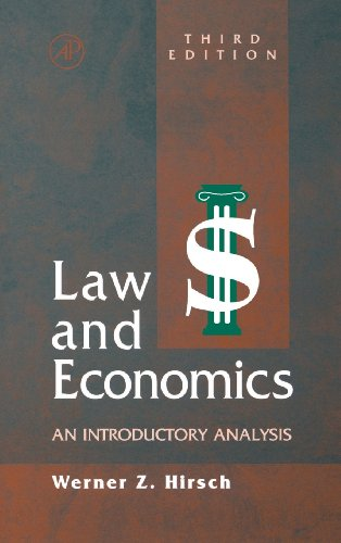 9780123494825: Law and Economics, Third Edition: An Introductory Analysis