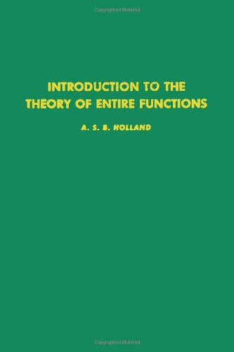 9780123527509: Introduction to the theory of entire functions, Volume 56 (Pure and Applied Mathematics)
