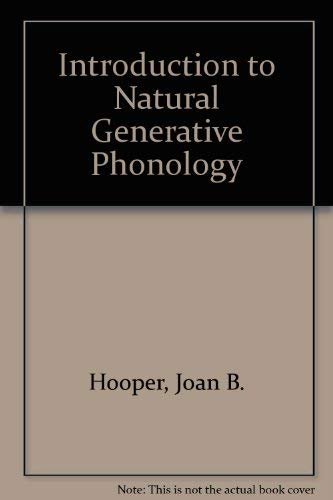 9780123547507: Introduction to Natural Generative Phonology
