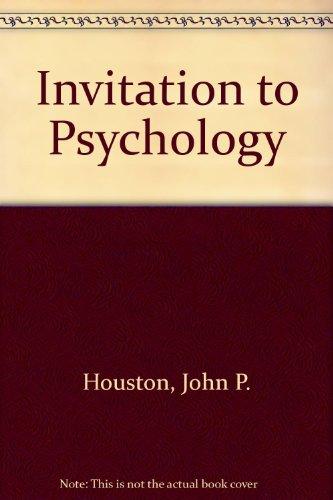 9780123568601: Invitation to Psychology