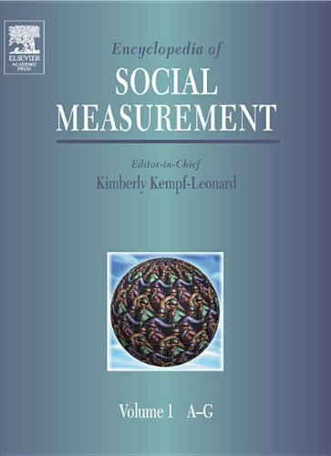 9780123693983: Encyclopedia of Social Measurement, Three-Volume Set