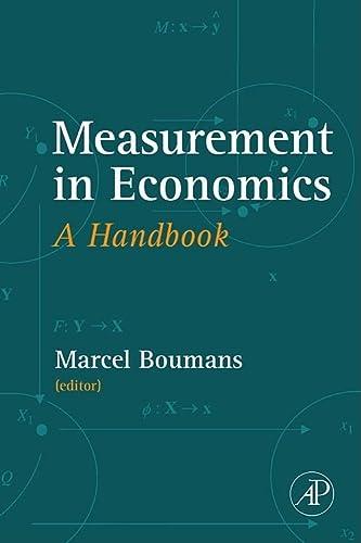9780123704894: Measurement in Economics: A Handbook