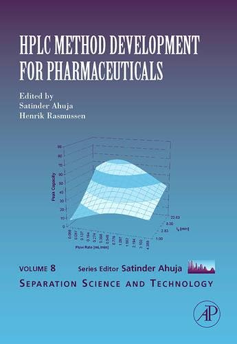 9780123705402: HPLC Method Development for Pharmaceuticals, Volume 8 (Separation Science and Technology)