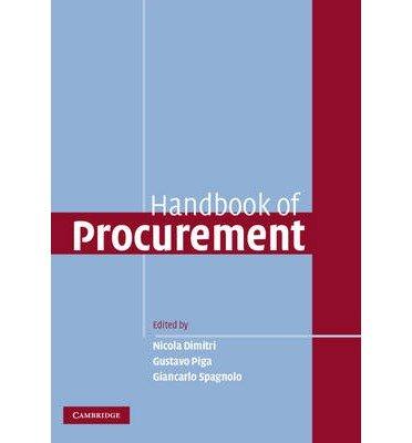 9780123708519: Handbook of Procurement