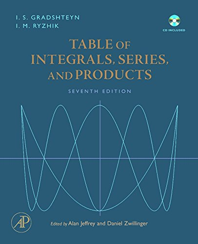 9780123736376: Table of Integrals, Series, and Products