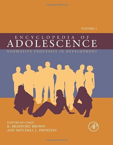 9780123739155: Encyclopedia of Adolescence