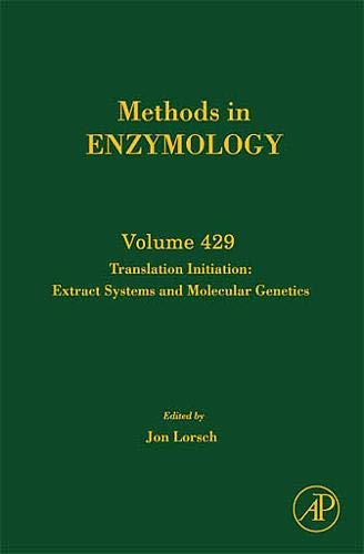 9780123741912: Translation Initiation:  Extract Systems and Molecular Genetics, Volume 429 (Methods in Enzymology)