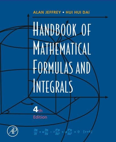 9780123742889: Handbook of Mathematical Formulas and Integrals