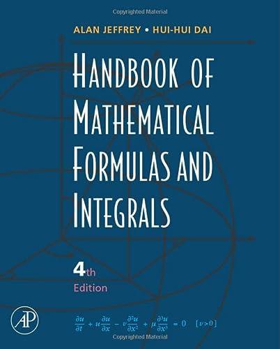 9780123742889: Handbook of Mathematical Formulas and Integrals, Fourth Edition